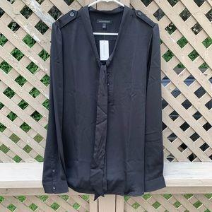NWT Banana Republic tall black blouse